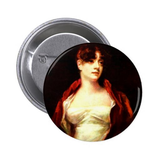 Portrait Of Mrs. Robert Scott Moncrieff By Raeburn Pinback Button