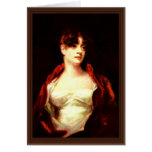 Portrait Of Mrs. Robert Scott Moncrieff By Raeburn Greeting Cards