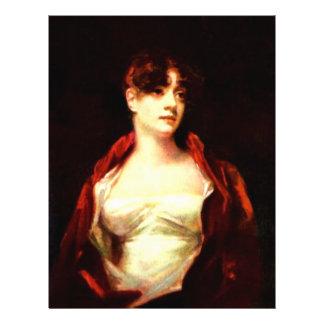 Portrait Of Mrs. Robert Scott Moncrieff By Raeburn Full Color Flyer