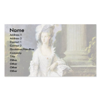 Portrait Of Mrs. Thomas Graham By Thomas Gainsboro Business Card