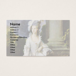 Portrait Of Mrs. Thomas Graham By Thomas Gainsboro Business Card
