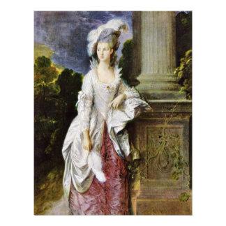 Portrait Of Mrs. Thomas Graham By Thomas Gainsboro Letterhead