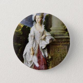 Portrait Of Mrs. Thomas Graham By Thomas Gainsboro Pinback Button