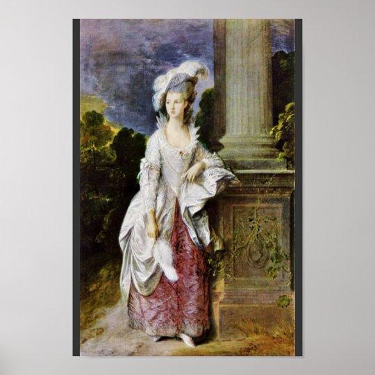 Portrait Of Mrs. Thomas Graham By Thomas Gainsboro Poster