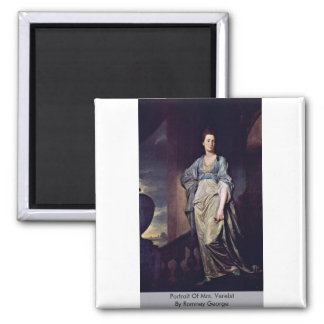 Portrait Of Mrs. Verelst By Romney George Refrigerator Magnet
