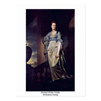 Portrait Of Mrs. Verelst By Romney George Postcard