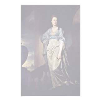 Portrait Of Mrs. Verelst By Romney George Personalized Stationery