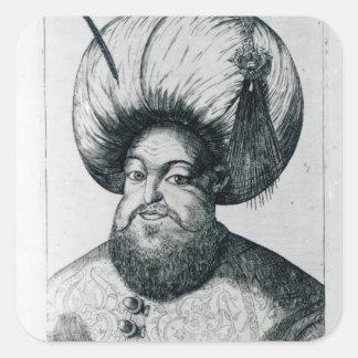 Portrait of Murad III Square Sticker