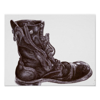 Portrait of My Left Boot ~ Poster