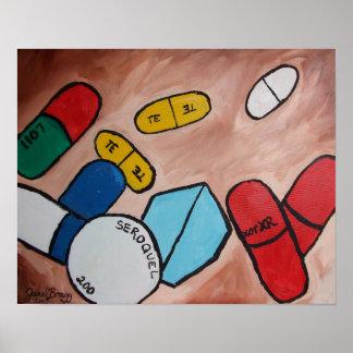Portrait of my Pills Poster