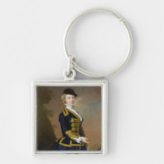 Portrait of Nancy Fortesque wearing a dark blue ri Keychain