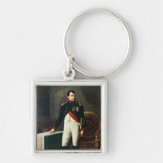 Portrait of Napoleon Bonaparte  1809 Silver-Colored Square Keychain