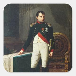 Portrait of Napoleon Bonaparte  1809 Square Sticker