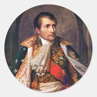 Portrait of Napoleon Bonaparte by Andrea Appiani Classic Round Sticker