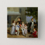 Portrait of Napoleon Bonaparte  with his Nephews Button