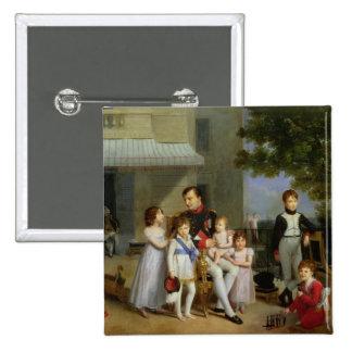 Portrait of Napoleon Bonaparte  with his Nephews 2 Inch Square Button