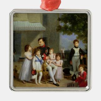Portrait of Napoleon Bonaparte  with his Nephews Metal Ornament