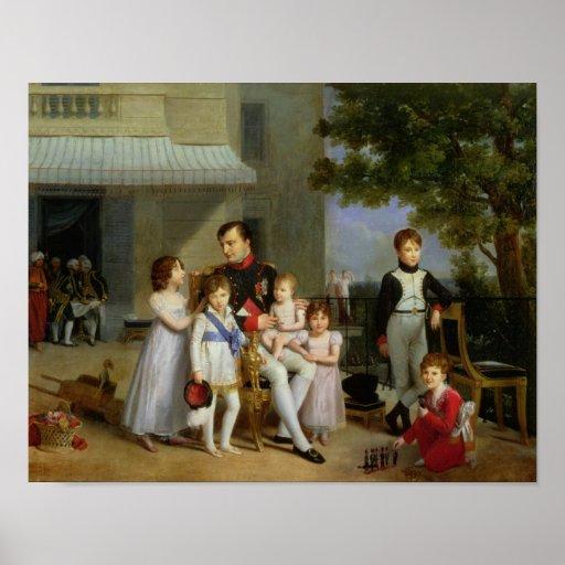 Portrait of Napoleon Bonaparte  with his Nephews Poster