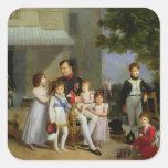 Portrait of Napoleon Bonaparte  with his Nephews Square Sticker