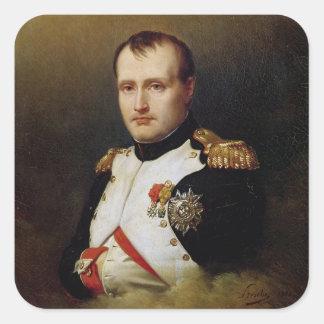 Portrait of Napoleon I  1812 Square Sticker
