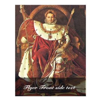 "Portrait Of Napoleon I. By Ingres Jean Auguste Dom 8.5"" X 11"" Flyer"