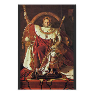 Portrait Of Napoleon I. By Ingres Jean Auguste Dom Poster