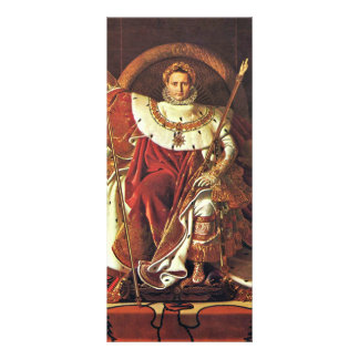 Portrait Of Napoleon I. By Ingres Jean Auguste Dom Custom Rack Card