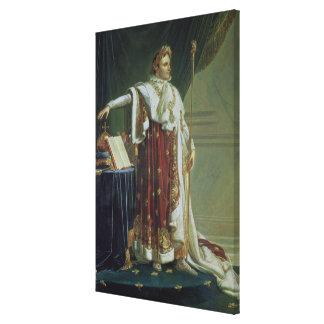 Portrait of Napoleon I in his Coronation Robes, 18 Canvas Print