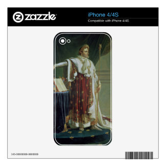 Portrait of Napoleon I in his Coronation Robes, 18 Decals For The iPhone 4