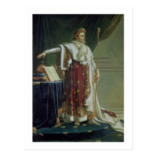 Portrait of Napoleon I in his Coronation Robes, 18 Postcard