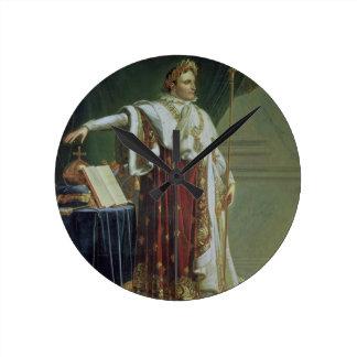 Portrait of Napoleon I in his Coronation Robes, 18 Round Clock
