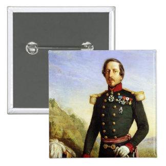 Portrait of Napoleon III  1852 2 Inch Square Button