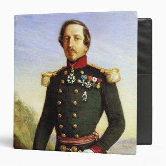 Portrait of Napoleon III  1852 3 Ring Binder
