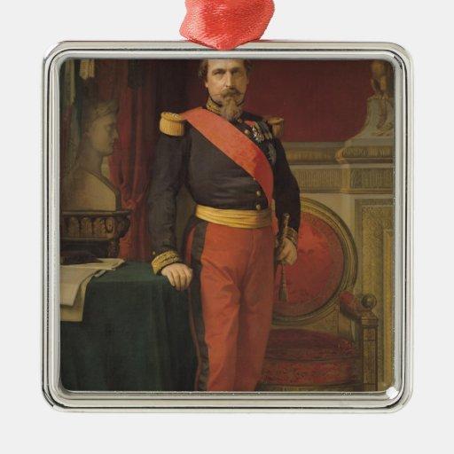 Portrait of Napoleon III  1862 Christmas Tree Ornament
