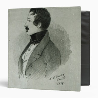 Portrait of Napoleon III as a young man 1839 3 Ring Binder