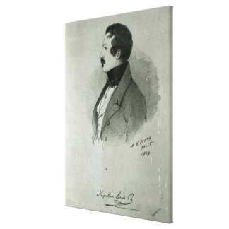 Portrait of Napoleon III  as a young man, 1839 Canvas Print
