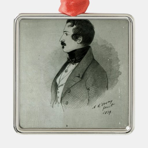 Portrait of Napoleon III  as a young man, 1839 Christmas Ornament