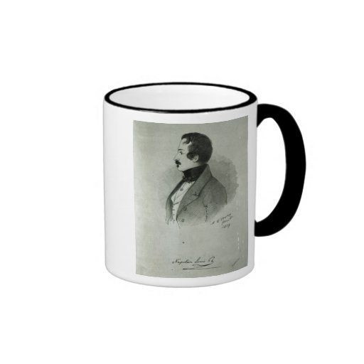 Portrait of Napoleon III  as a young man, 1839 Ringer Coffee Mug