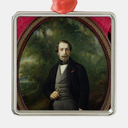Portrait of Napoleon III  c.1857 Christmas Tree Ornaments