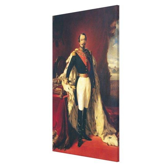 Portrait of Napoleon III  Emperor of France Canvas Print