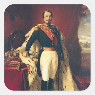 Portrait of Napoleon III  Emperor of France Square Sticker