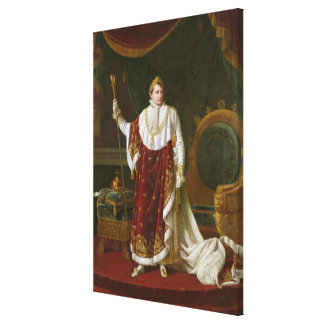 Portrait of Napoleon  in his Coronation Robes Canvas Print