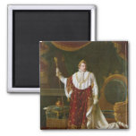 Portrait of Napoleon  in his Coronation Robes 2 Inch Square Magnet