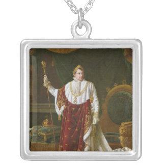 Portrait of Napoleon  in his Coronation Robes Square Pendant Necklace