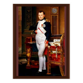 Portrait Of Napoleon In His Study By Jacques-Louis Postcard