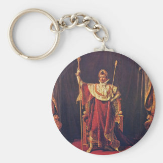 Portrait Of Napoleon In Imperial Robes By David Ja Basic Round Button Keychain