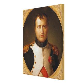Portrait of Napoleon  in Uniform Canvas Print