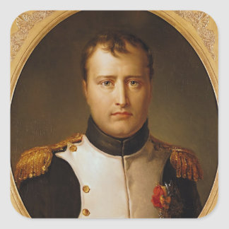 Portrait of Napoleon  in Uniform Square Sticker