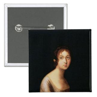 Portrait of Natalia Goncharova, 1820s Pinback Button