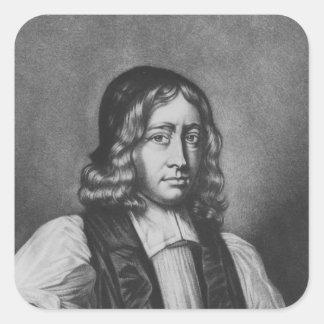 Portrait of Nathaniel Crew, Bishop of Durham Square Sticker